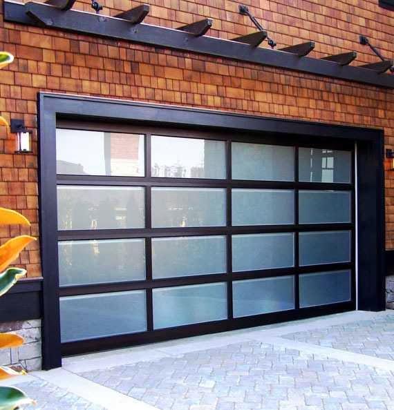 Modern Classic garage door decor