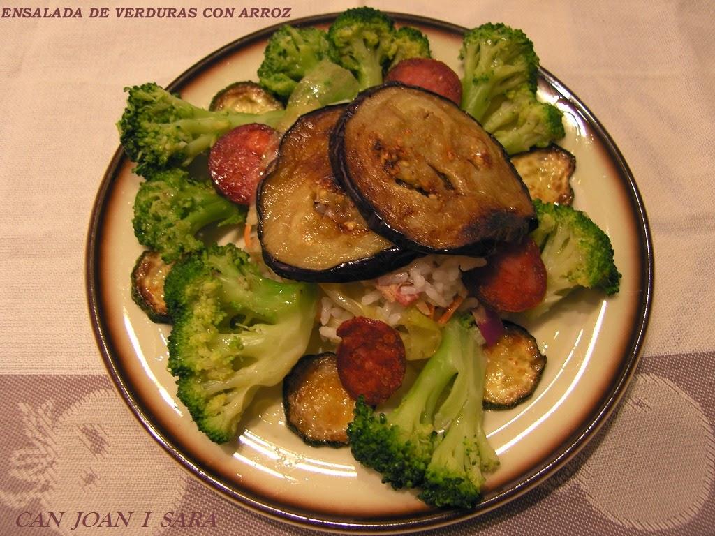 Ensalada de verduras con arroz recetas de cocina - Arroz con pescado y verduras ...