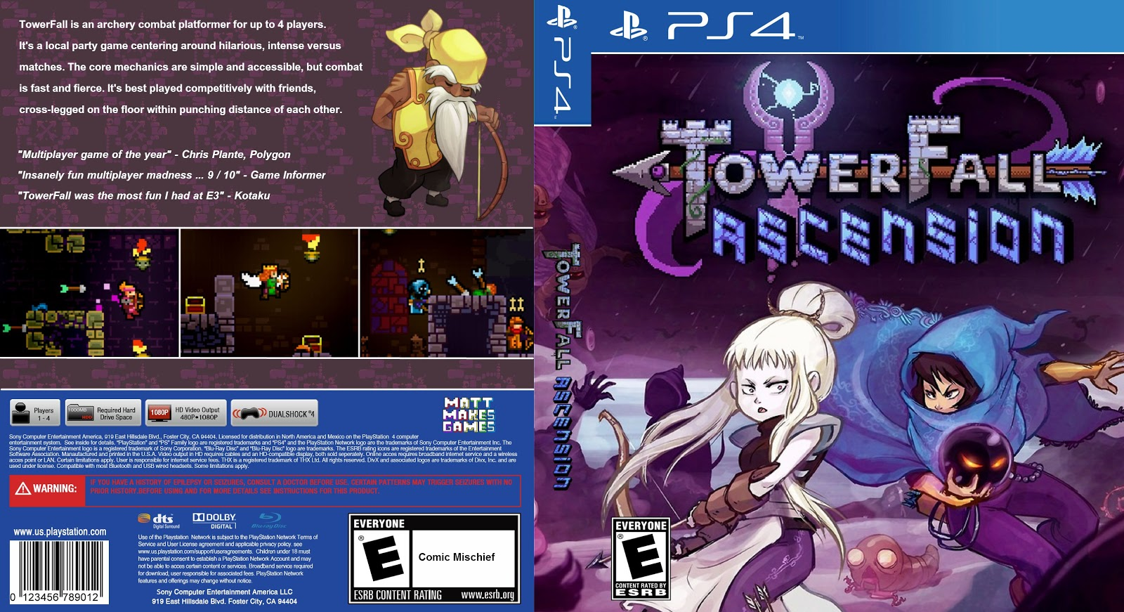 Capa Towerfall Ascension PS4