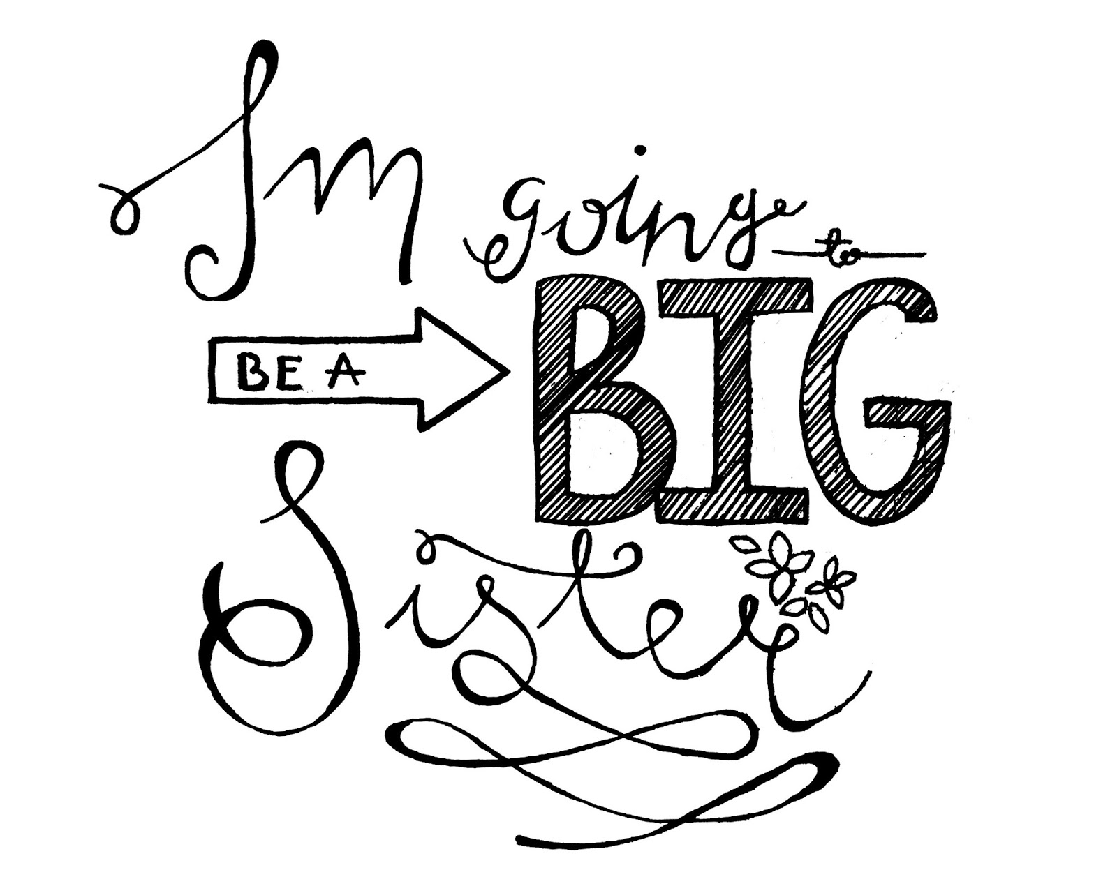 Free Printable Big Sister Sign - My Someday in May