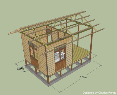 Raja ampat reef simple wooden house for ecotourism Simple cad online