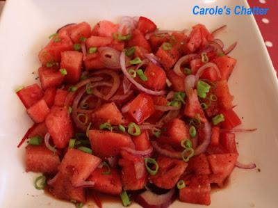 Savoury Watermelon Salad:  Carole's Chatter