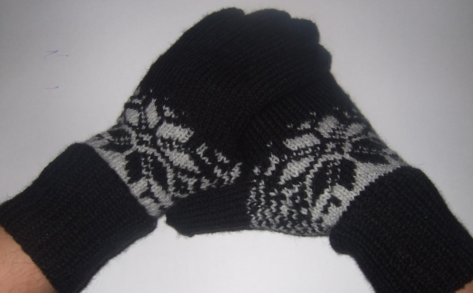 Видео вязание мужских перчаток спицами