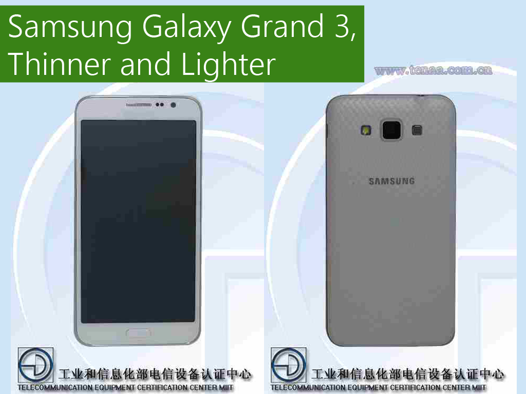 Samsung Galaxy Grand 3: 5.25-inch, Snapdragon 410, 13 MP Rear Camera, Thinner and Lighter Than Grand 2