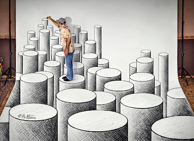 Ben Heine 3D Art - Making of (Pencil Vs Camera)