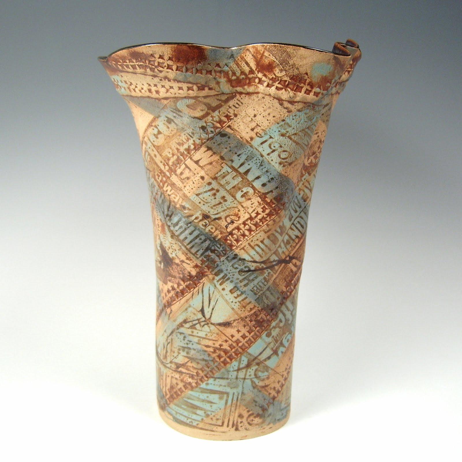 Transfer Printed Vase