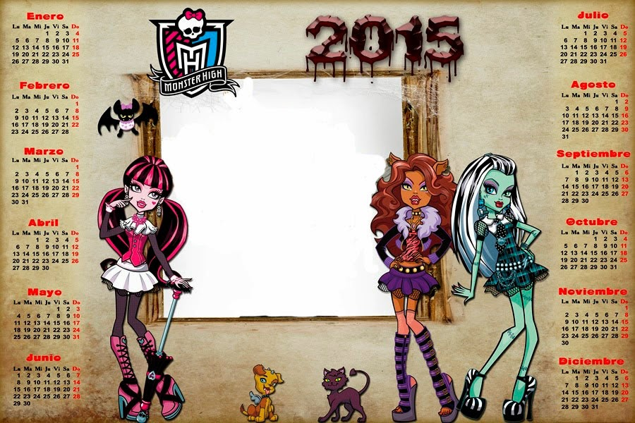 Calendario 2015 Monster High
