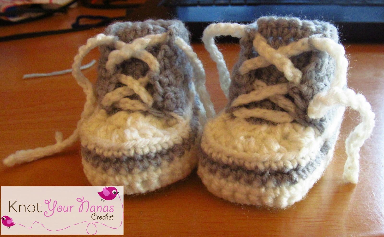 Free Crochet Baby High Tops Pattern : Knot Your Nanas Crochet: Crochet Converse Newborn High Tops