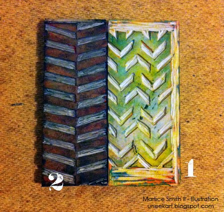 TUTORIAL:: Alternating Chevron Stamps by Martice Smith II