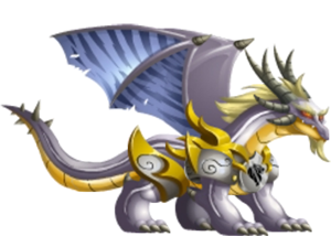 imagen del white knight dragon adulto