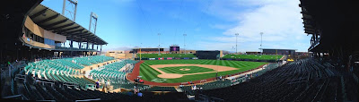 panorama, spring training baseball stadium, arizona