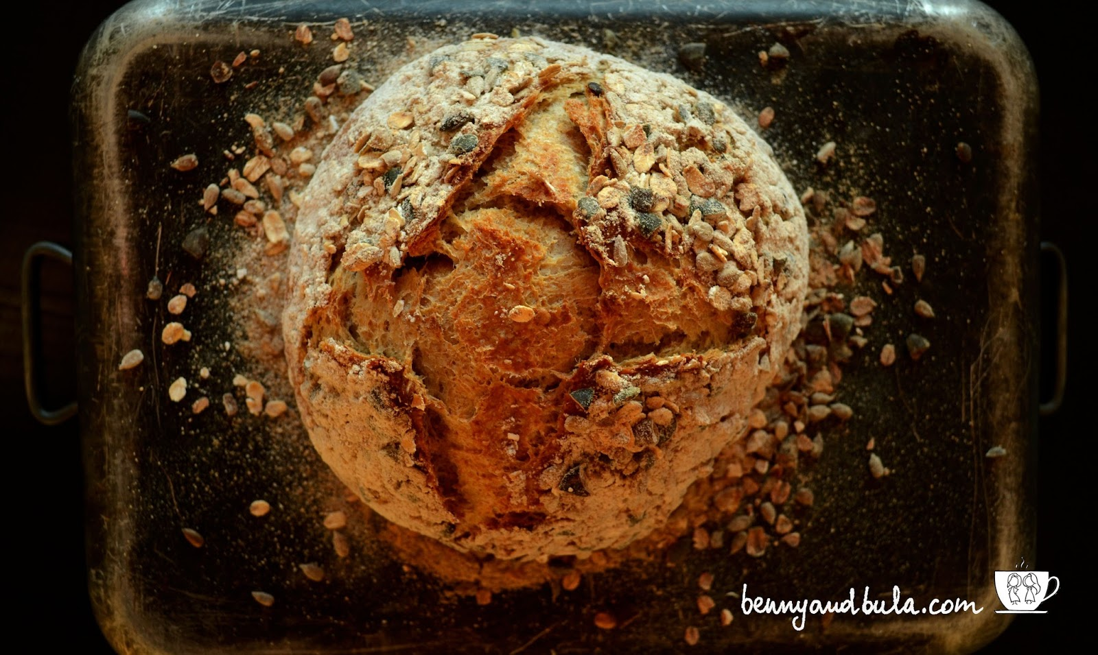 ricetta pane ai cereali e semi/seeded multigrain bread recipe