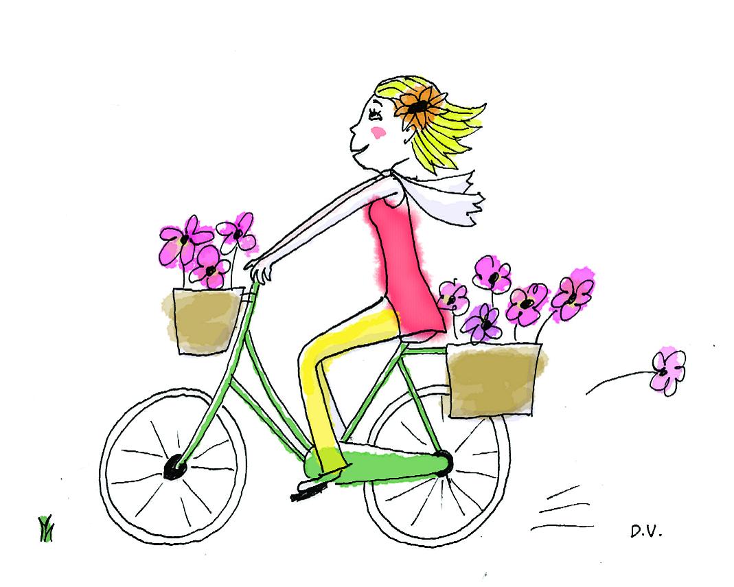 Blabla les folles marquises - Cycliste dessin ...