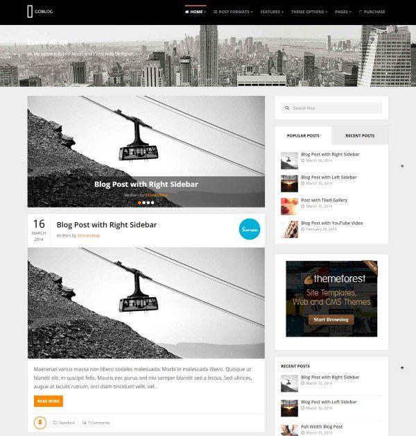 GoBlog premium blogging theme