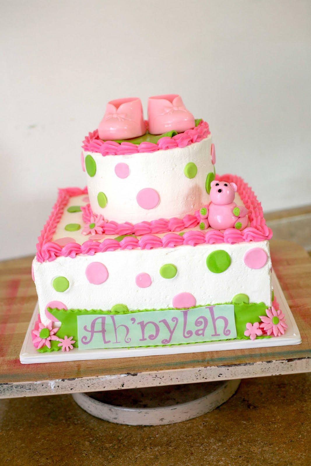 Hectors Custom Cakes Polka Dots Baby Shower Cake