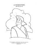 Vision de Pedro para colorear - Dibujos Cristianos - Hechos 10:9-16 la vision de pedro para colorear