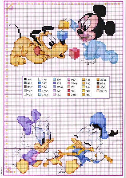 Punto croce disney babies 48 for Disney punto croce schemi gratis