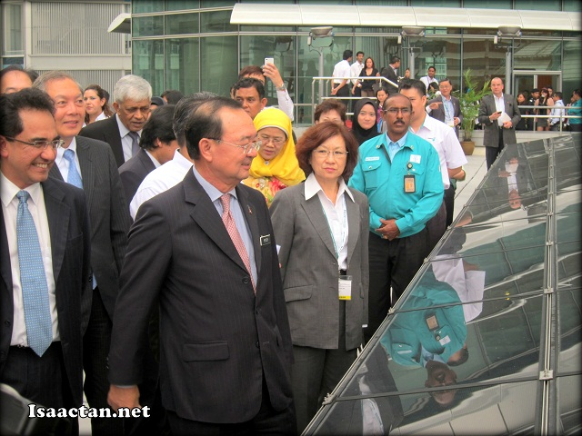 VVIPs of the launch being brought on a tour around the site