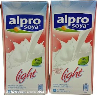 Alpro Soya Light original and improved longlife cartons