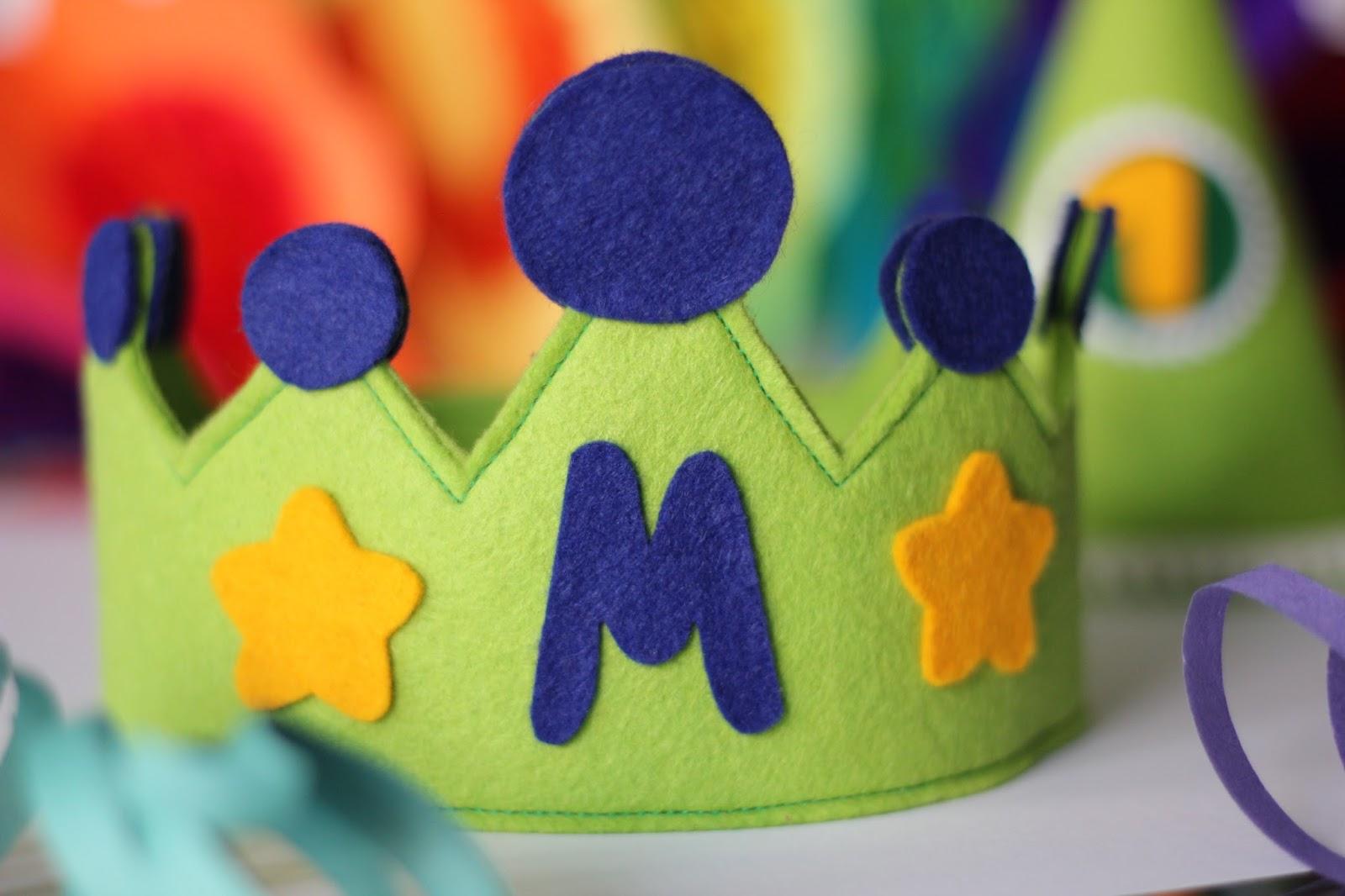 Mi hogar de patchwork corona y gorro infantil de aniversario for Decoracion goma eva infantil
