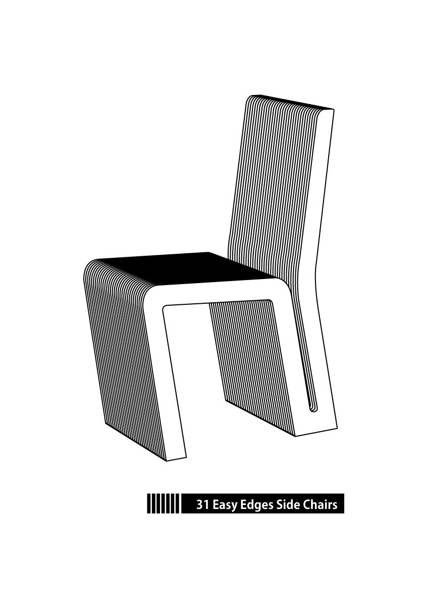 31good Designline Easy Edges Side Chairsフランク・オーエン・ゲーリー