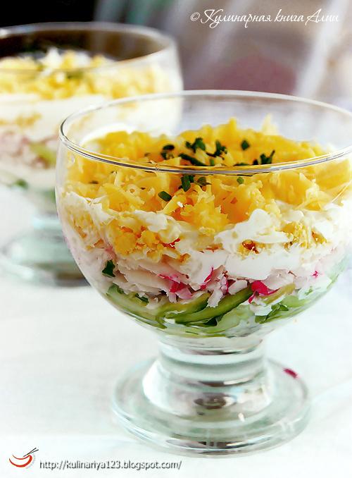 Салат с крабовыми палочками
