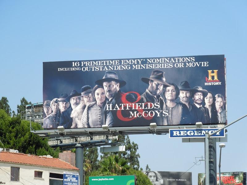 Hatfields McCoys Emmy billboard