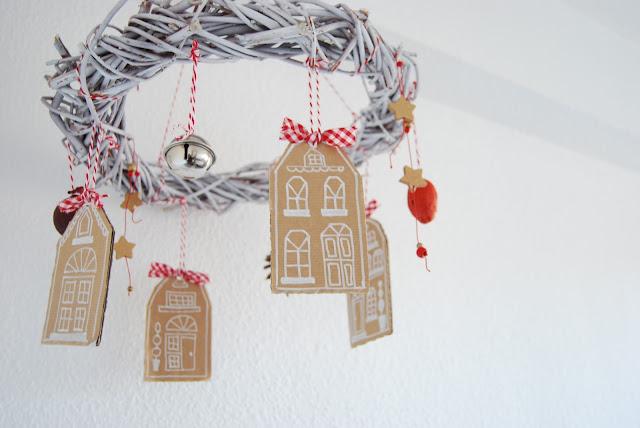 Tutorial Corona de navidad colgante