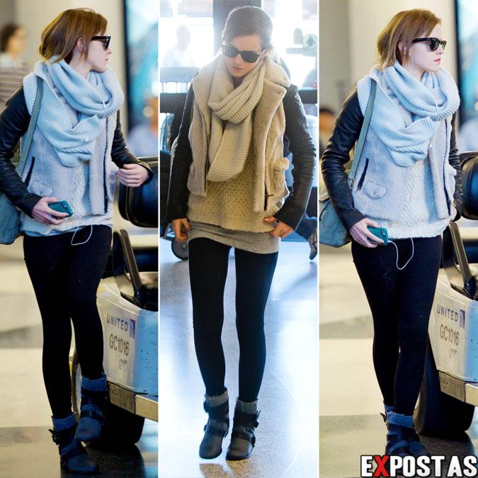 Emma Watson no aeroporto LAX, em Los Angeles - 25 de Fevereiro de 2013