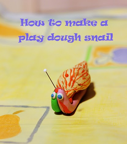 how to make a play dough snail