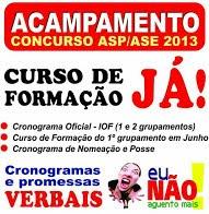 APOIAMOS O ACAMPAMENTO! CONCURSO ASP/ASE-2013