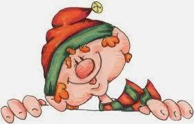 Imagens para decoupage de duendes de natal