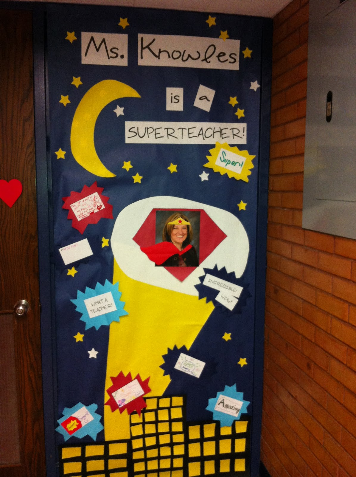 Super Heroes Decor For Classroom ~ Harper hoorahs we love our superhero teachers