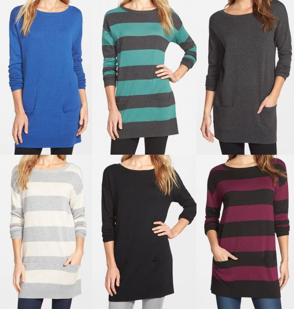 Fall fashion - Caslon two-pocket knit tunic, perfect with jeans or leggings for Fall