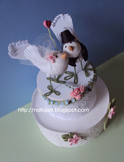 NatiQuill Blog Wedding Cake Toppers Love Birds