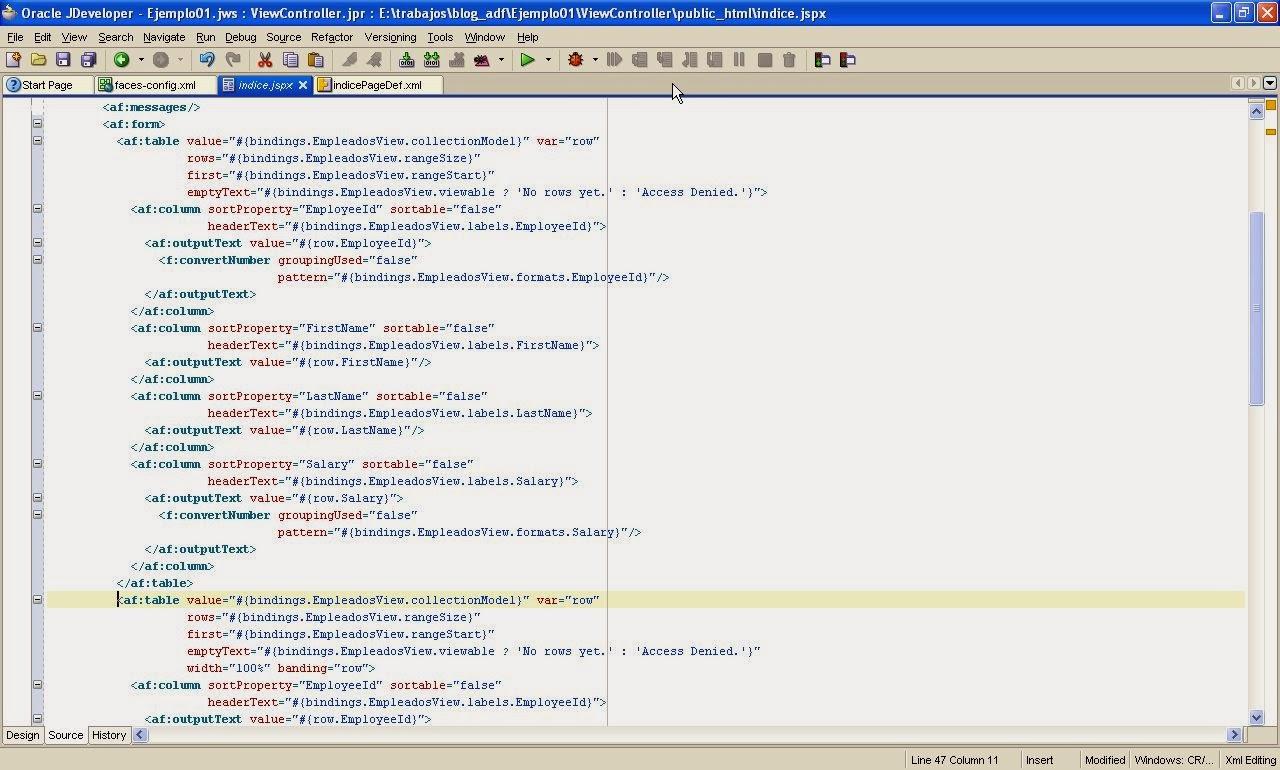 codigo jspx ejemplo