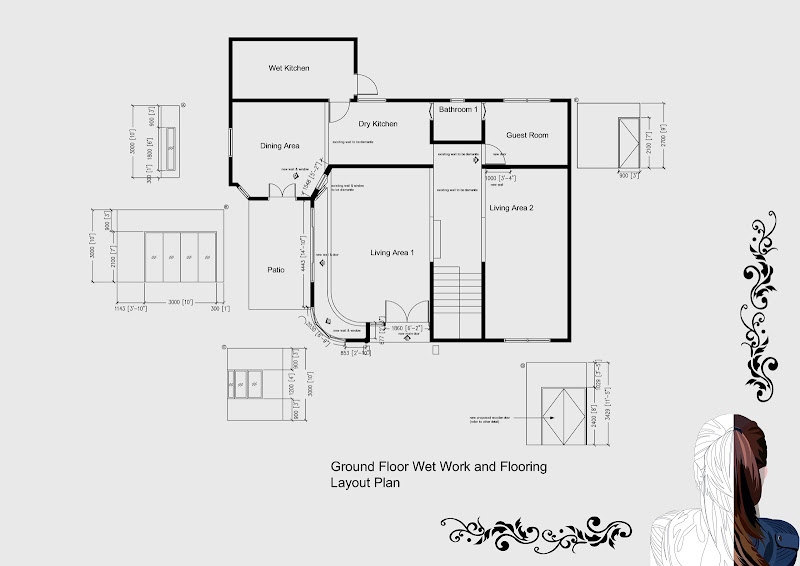 AutoCAD Technical Drawings for Resident house title=