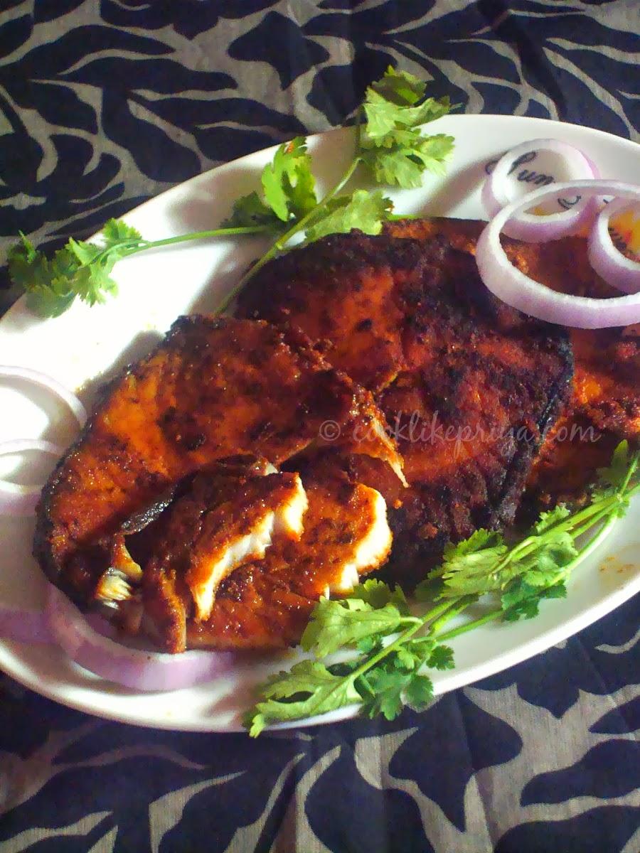 Cook like priya vanjaram meen varuval king fish fry for Fish fry ingredients