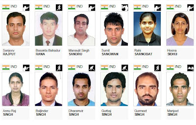 Indian Team for London 2012