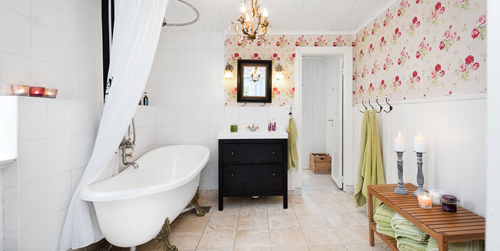 Scandinavian Vintage Modern Bathroom