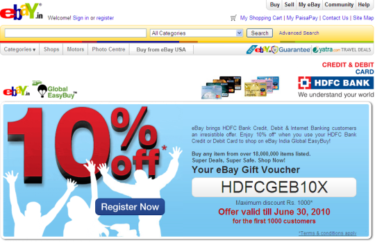 Fnp discount coupon hdfc