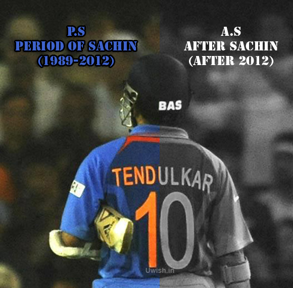 P.S Period of Sachin (Dec 1989- Dec 2012 in ODI). After Sachin A.S (After 2012)- The God of Cricket