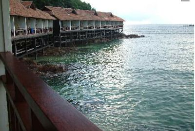 Gem island resort: attached villas on stilts