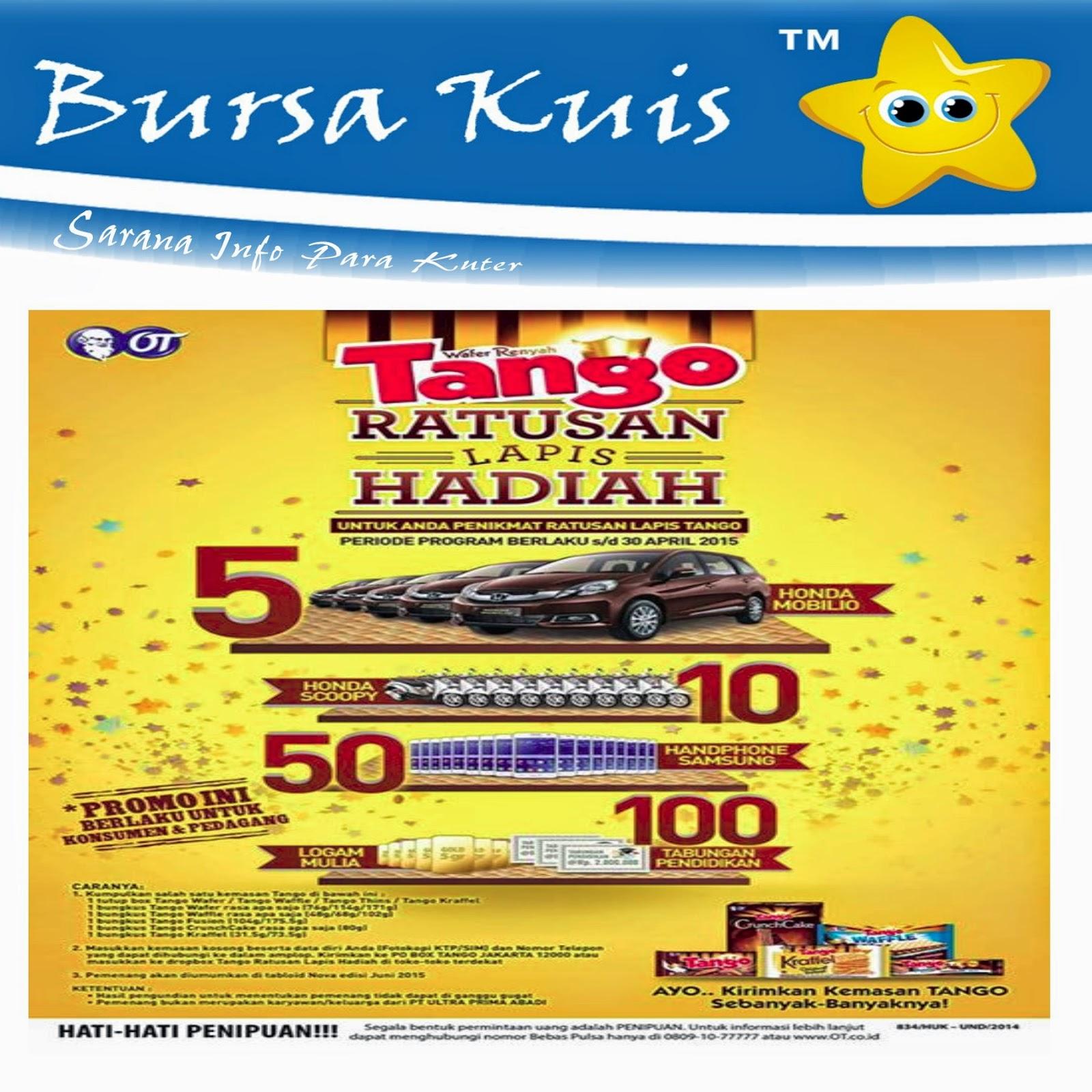Harga Jual Wafer Tango Waffle Crunchox Pck 68g Tanggo Undian Ratusan Lapis Hadiah 2015