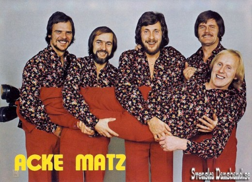 Awful 70s clothes, awful 70s hair, Swedish record covers
