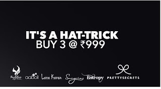 Jabong Wow deal buy 3 at Rs 999 its hatrick sale:buytoearn
