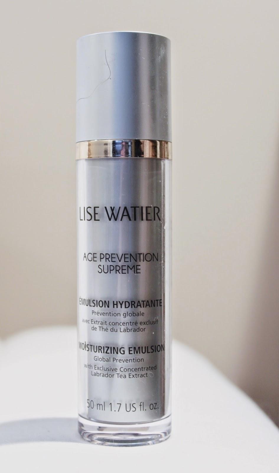 Just J: Lise Watier Age Prevention Supreme Moisturizing Emulsion
