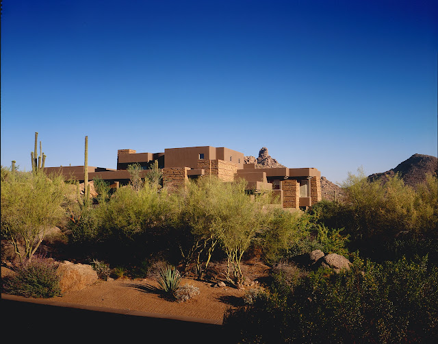 Picture of the house from the desert