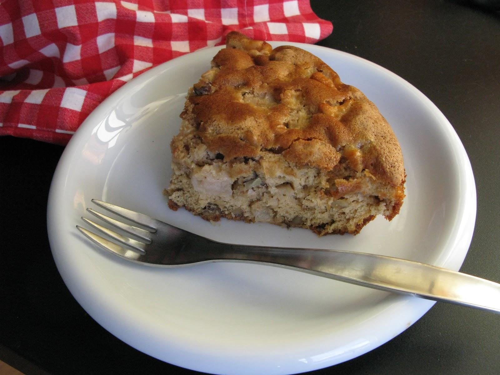 Au gr du march g teau aux pommes et aux noix de grenoble - Gateau aux noix et pommes ...