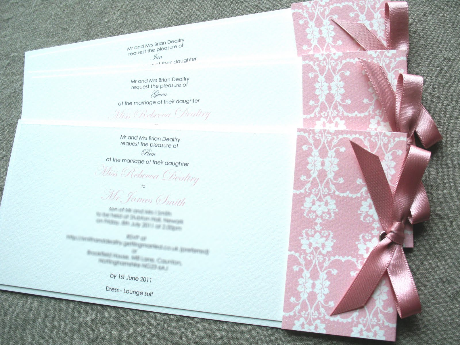 Inspiration for weddings, invitations and stationery: day/evening ...